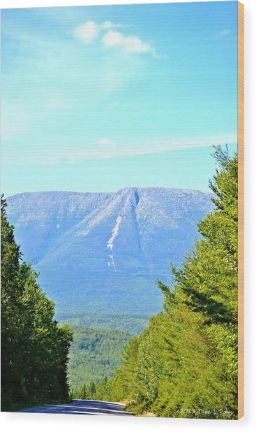Road To Katahdin Wood Print
