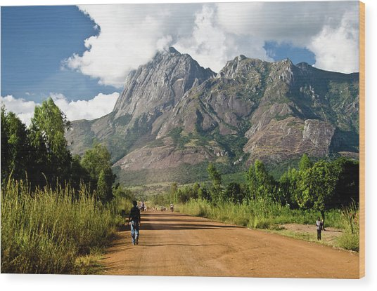 Road To Mount Mulanje Wood Print by Colin Carmichael