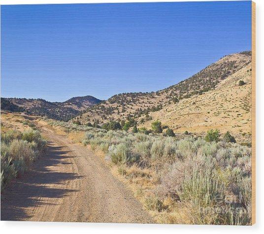 Road To Nowhere - Storey Nevada Wood Print