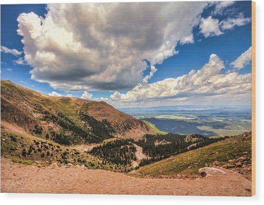 Road To Pikes Peak Wood Print
