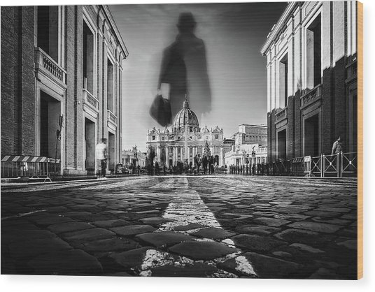 Road To St.peter Wood Print
