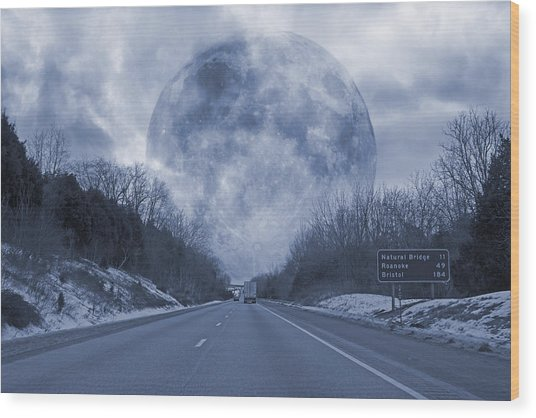 Road To The Horizon Wood Print