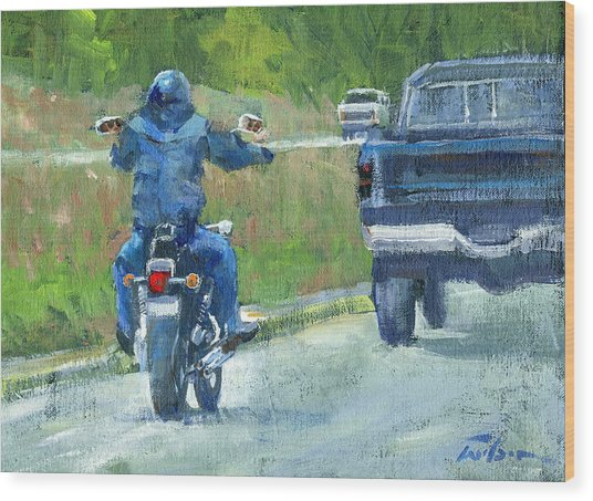 Road Warrior - Cruising Wood Print by Ron Wilson