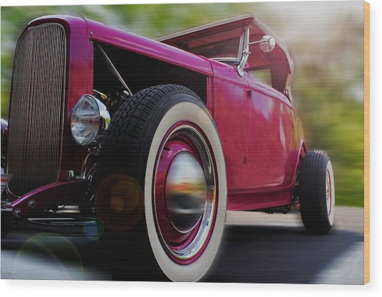 Roadster Wood Print
