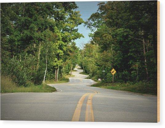Roadway Slalom Wood Print