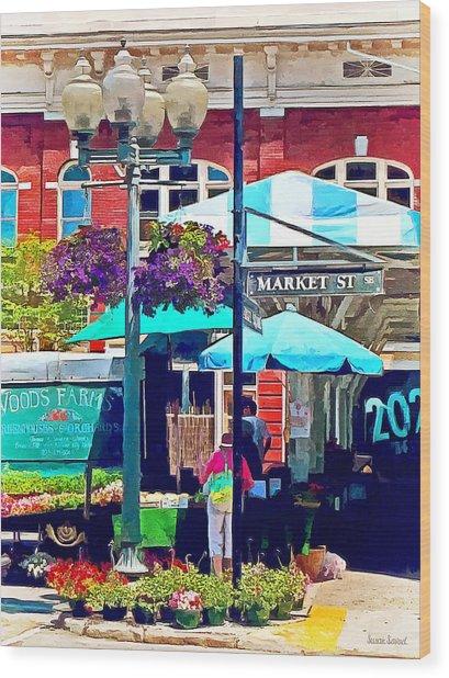 Roanoke Va - Market Street Wood Print by Susan Savad