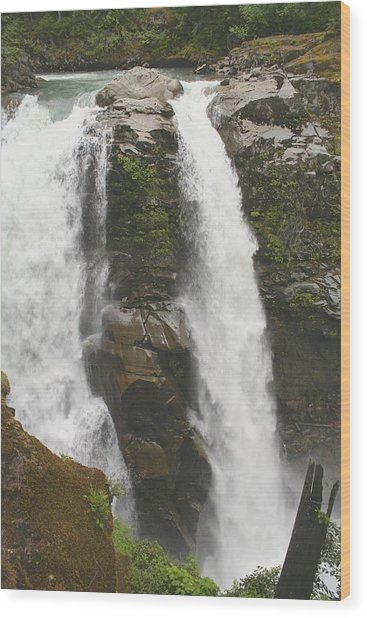 Roaring Falls Wood Print