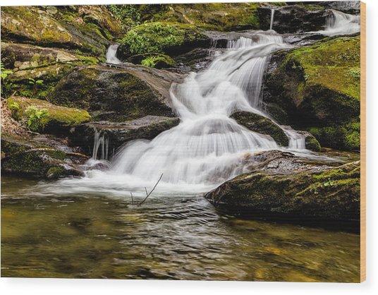Roaring Fork Falls 04 Detail Wood Print