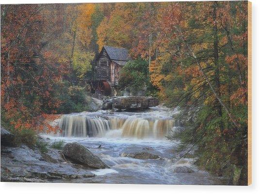 Roaring Past The Mill Wood Print