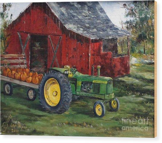 Rob Smith's Tractor Wood Print