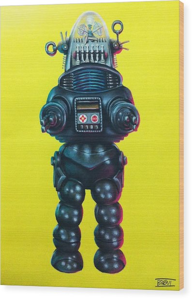 Robby The Robot Wood Print