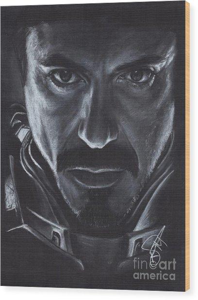Robert Downey Jr.  Wood Print by Rosalinda Markle