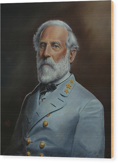 Robert E. Lee Wood Print