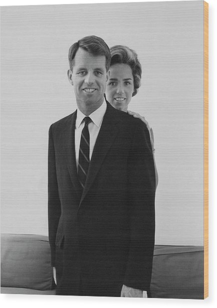 Robert F Kennedy And Wife Ethel Wood Print by Cecil Beaton