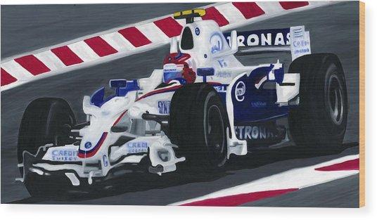 Robert Kubica Wins F1 Canadian Grand Prix 2008  Wood Print