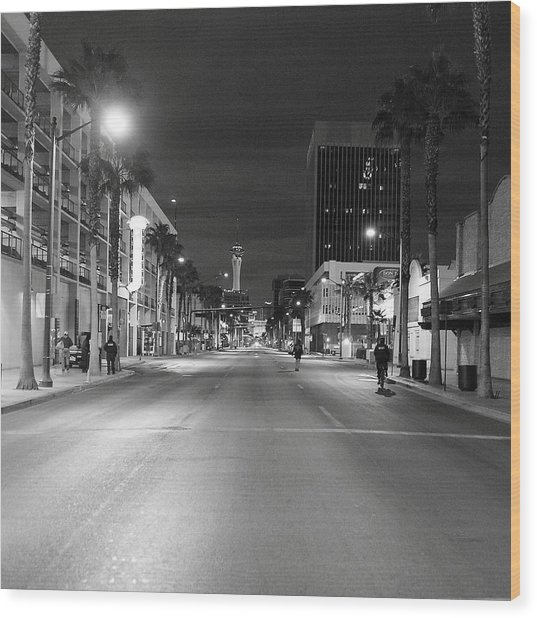 Robert Melvin - Fine Art Photography - Sin City - No Homeless Allowed Wood Print