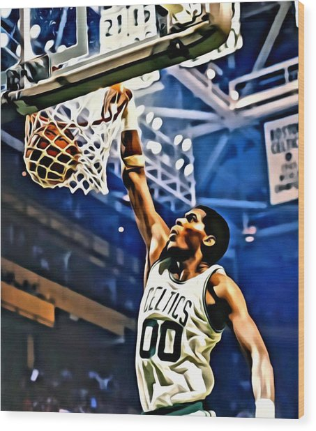 Robert Parish  Wood Print
