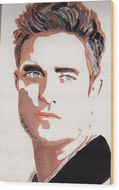 Robert Pattinson 144 Wood Print
