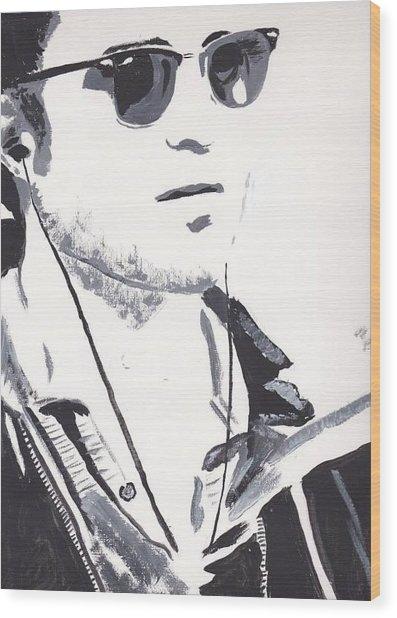 Robert Pattinson 151 Wood Print