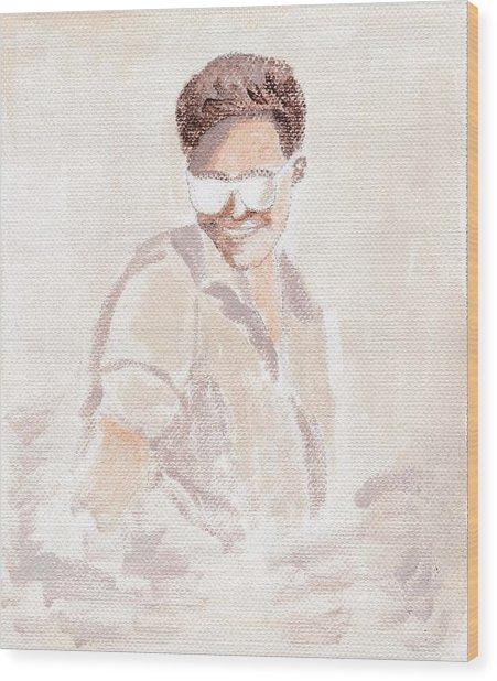 Robert Pattinson 182 Wood Print by Audrey Pollitt