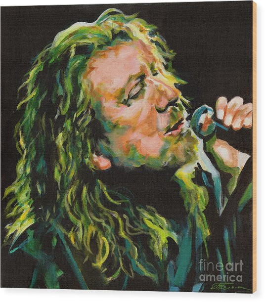 Robert Plant 40 Years Later Like Never Been Gone Wood Print