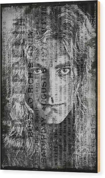 Robert Plant - Led Zeppelin Wood Print