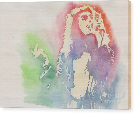 Robert Plant Wood Print by Robert Nipper