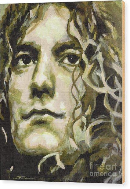 Robert Plant. Golden God Wood Print
