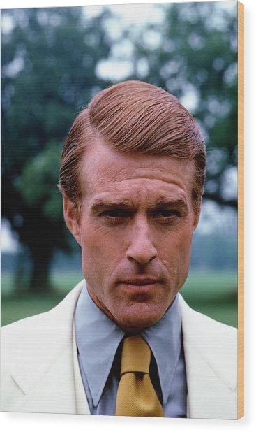 Robert Redford As Jay Gatsby Wood Print