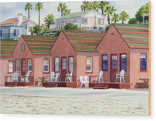 Robert's Cottages Oceanside Wood Print