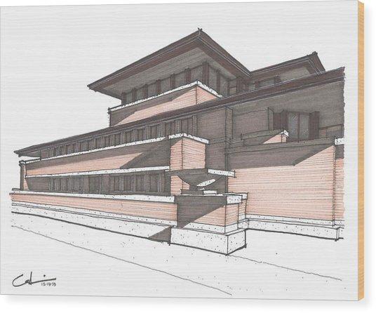 Robie House Wood Print