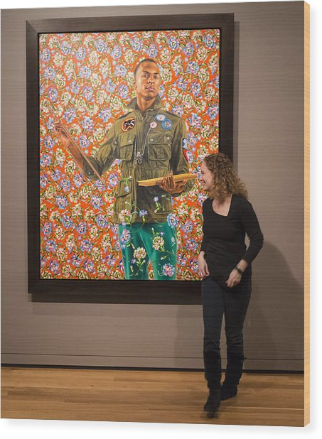 Robin And Anthony Of Padua By Kehinde Wiley  Wood Print