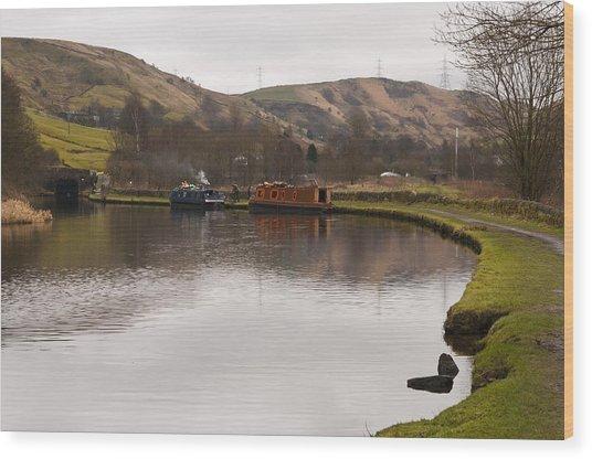 Rochdale Canal Near Walsden Wood Print