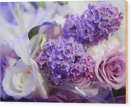 Rochester Wedding Bouquet Wood Print