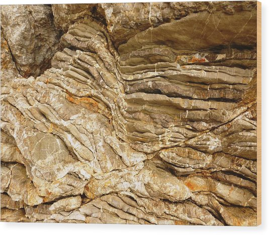 Rock Abstraction Wood Print