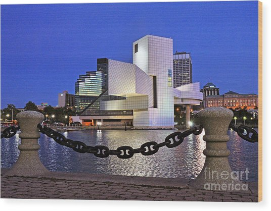 Rock And Roll Hall Of Fame - Cleveland Ohio - 1 Wood Print