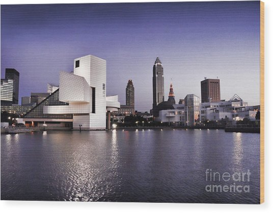 Rock And Roll Hall Of Fame - Cleveland Ohio - 2 Wood Print