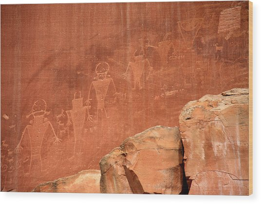 Rock Art Wood Print