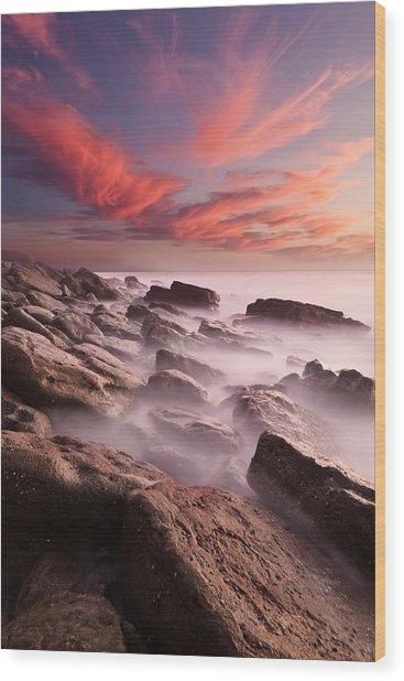 Rock Caos Wood Print