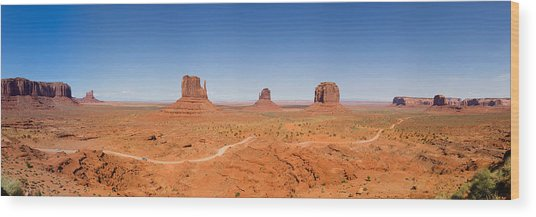 Rock Formations In A Desert, Monument Wood Print