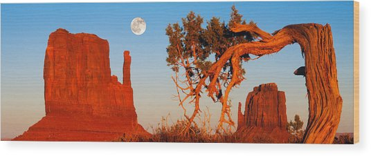 Rock Formations, Monument Valley Tribal Wood Print