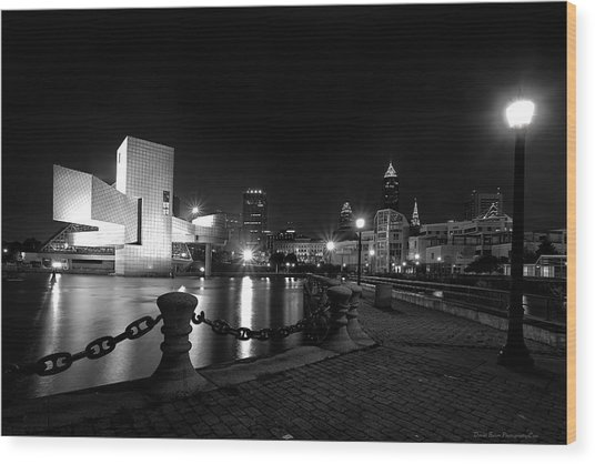 Rock Hall And Great Lakes Science Center Wood Print