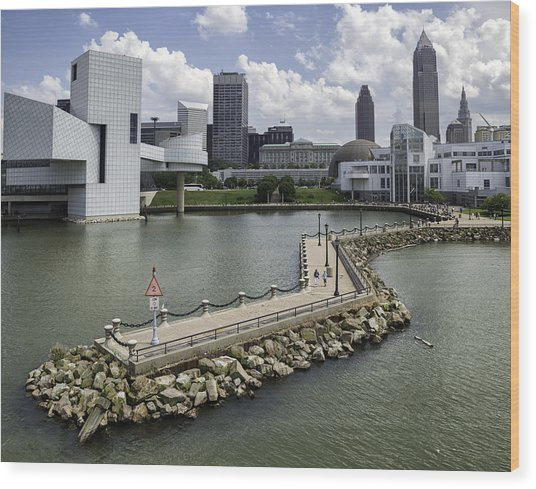 Rock Hall Of Fame On Lake Erie Wood Print