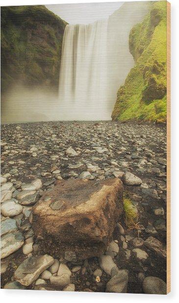 Rock N' Fall Wood Print