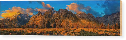 Rock Of Ages Panorama Wood Print
