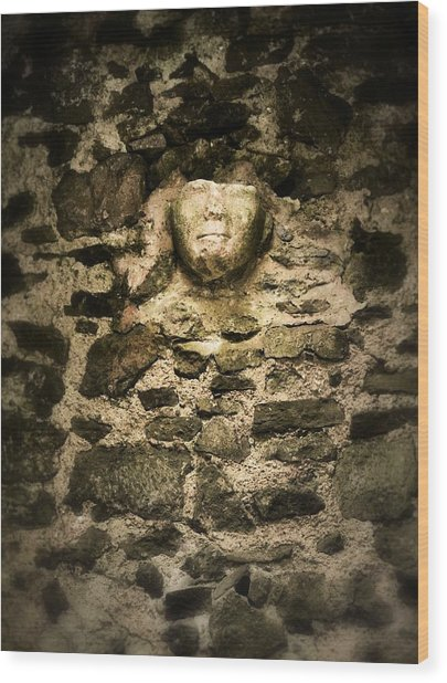 The Face In The Wall - Rock Of Cashel Wood Print