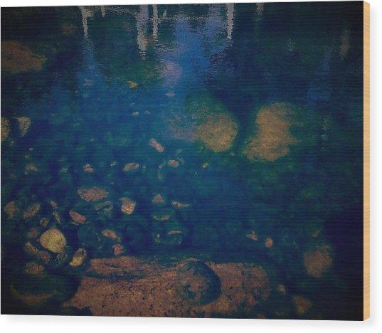 Rock Protoplasm Wood Print