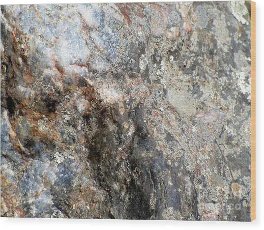 Rock Three Wood Print