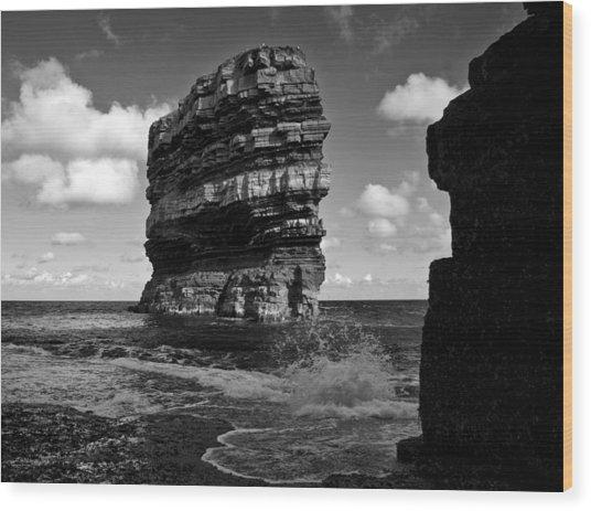 Rock Wood Print by Tony Reddington