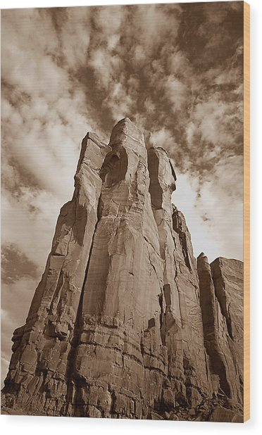 Rock Tower Wood Print